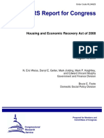 CRS analysis of the Housing & Economic Recovery Act of 2008