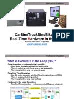 CarSimRT Presentation