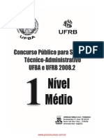 Prova Assist Adm 2008-1 ufba