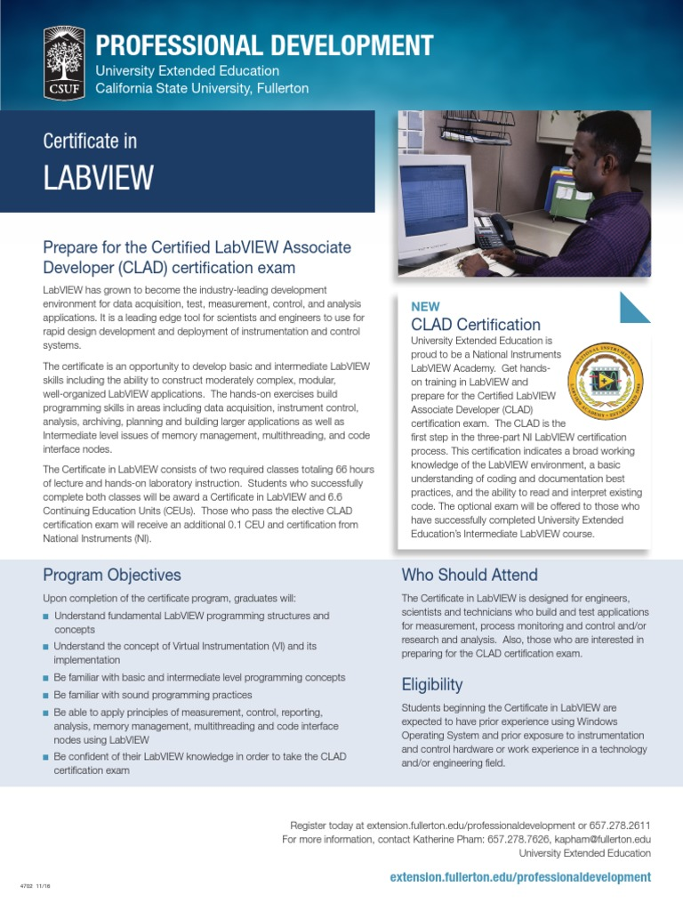 Lab View Professional Certification Test Assessment