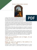 Visitación de La Virgen María 31 de Mayo