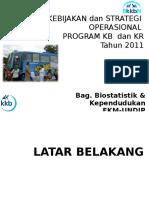 Kebijakan & Strategi KB-KR 2011