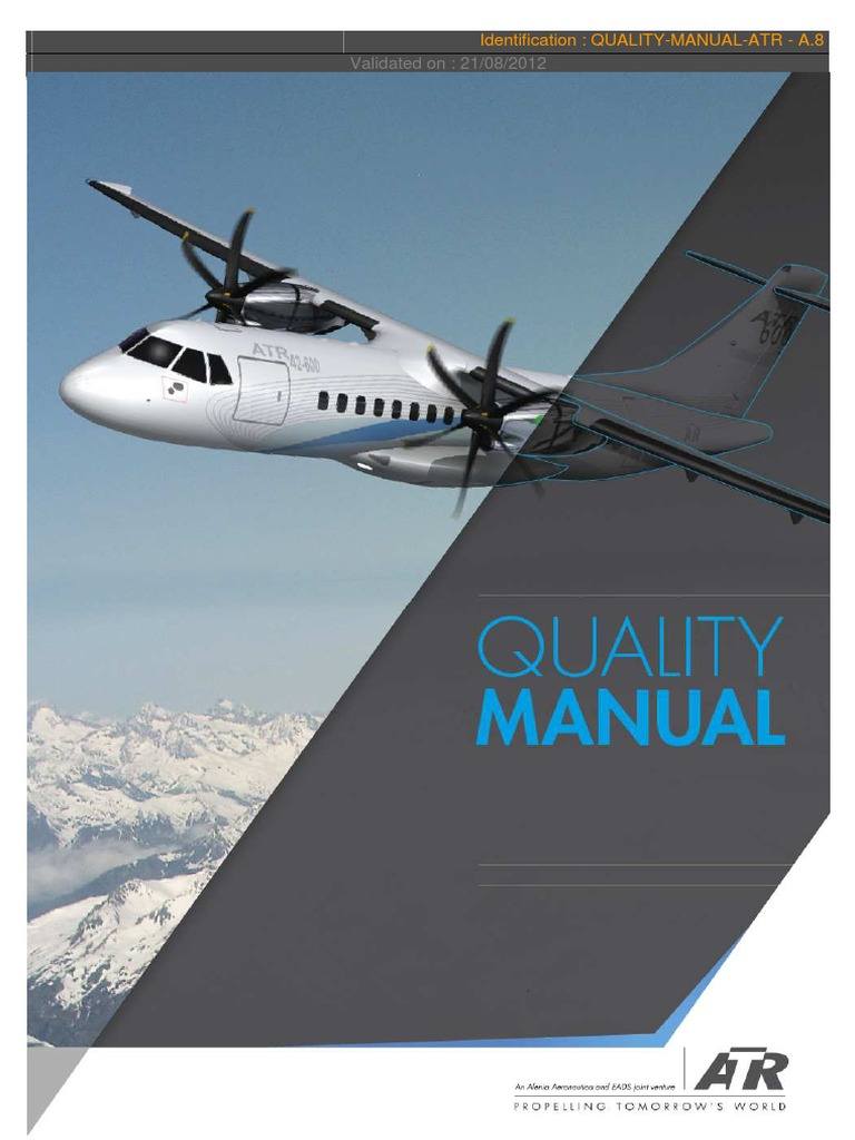 quality manual atr a 8 1 45 audit internal audit rh scribd com Flight Attendant Job Openings atr 72-500 flight crew training manual