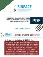 Sineace-plan de Mejora (Oct 20014) 15.10.14