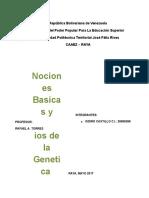 Nociones Basicas y Principios de La Genetica