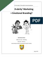 Is celebrity marketing = Emotional Branding?