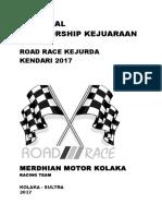 Proposal Sponsorship Kejuaraan Road Race