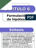 CAPÍTULO 6- Formulación de hipótesis