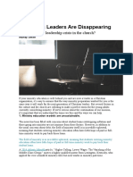 3 Reasons Leaders Are Disappearing