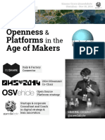 On the Role of Openness and Platforms in the Age of Makers -Simone Cicero - Szidf