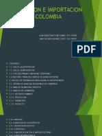 Exportacion e Importacion en Colombia
