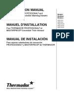 Thermadore Warming Drawer Installation Manual - WDC30/36