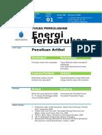 Tugas Energi Terbarukan