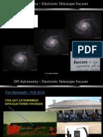 DIY Astronomy Electronic Focuser JSCAS