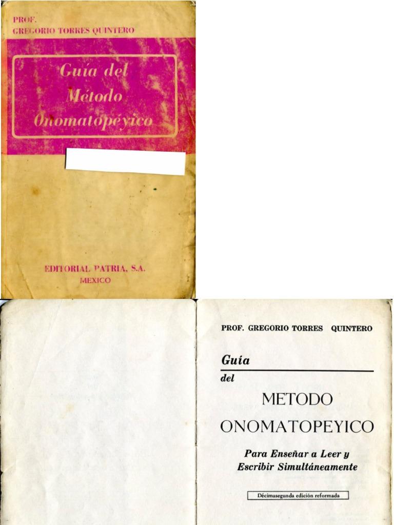 método onomatopéyico gregorio torres quintero pdf gratis