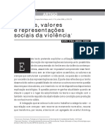 Crenças, valores e representações sociais da violencia - Maria Estela