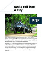 Army Tanks Roll Into Marawi City