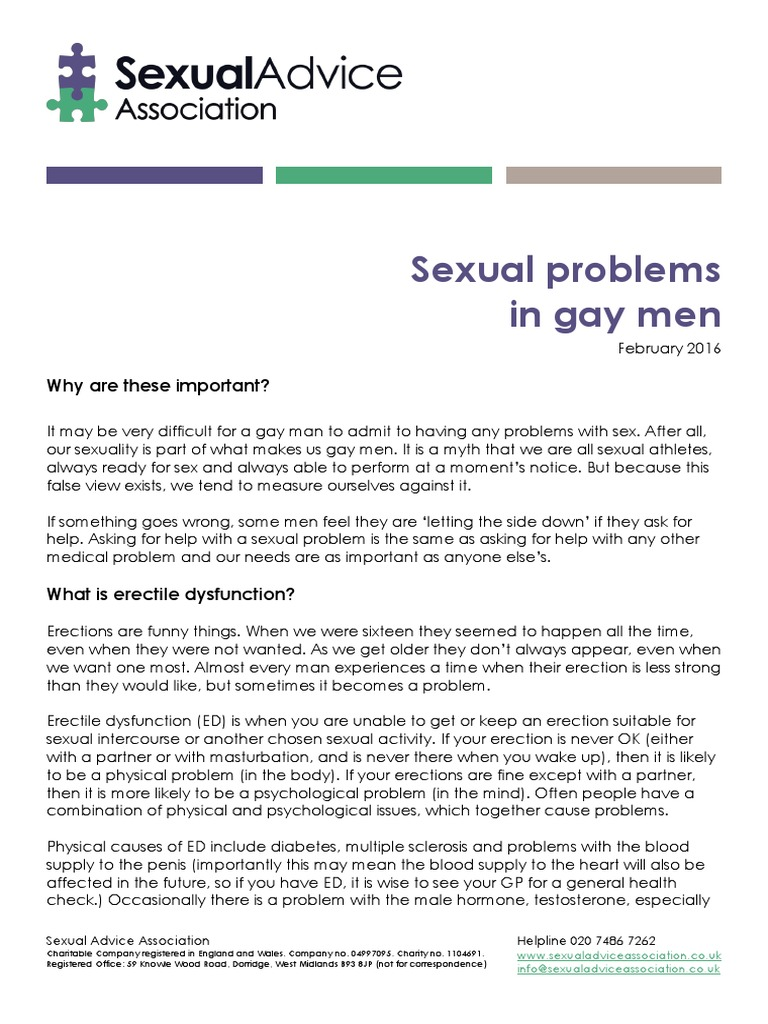 We Dont See Itthe Ed Vs Med Problem >> Men Sexual Problems In Gay Libido Erectile Dysfunction
