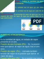 Clase Humedad y Presion Atmosferica hidrologia