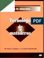 TECNOLOGIA DE MATADEROS - R. LOPEZ VAZQUEZ