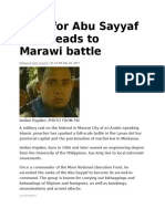 Hunt for Abu Sayyaf Chief Leads to Marawi Battle