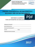 Prueba Diagnóstica de Matemática Segundo Año de Bachillerato - 2017