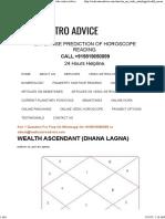 Wealth Ascendant Dhana Lagna