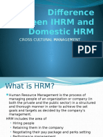 Difference Between IHRM and Domestic HRM