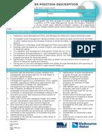 Position Description - Electrical Asset Engineer - February 2016