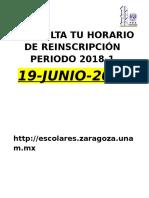 Consulta Tu Horario de Inscripcón 1 2017-2