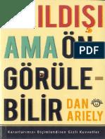 Akıldışı Ama Öngörülebilir-Dan Ariely