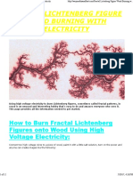 Fractal Lichtenberg Figure Wood Burning With Electricity