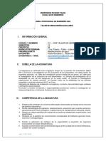 Silabor Taller de obras Hidraulicas URP