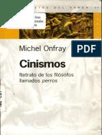Michel Onfray - Cinismos Retrato De Los Filosofos Llamados Perros.pdf