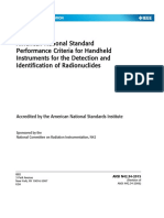 ANSI N42.34-2015 - Performance Criterial for Hand-held Instruments for the Detection and Identification of Radionuclides