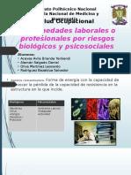 Enfermedades laborales por R. biologicos y psicosociales.pptx