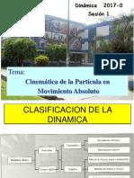 Sesion 1-2017-0 Cinematica de La Particula