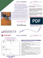Instrucciones de Costura Camiseta Polo Para Hombres HM2008P