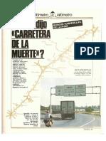 Revista Tráfico - nº 3 - Septiembre de 1985. Reportaje Kilómetro y kilómetro