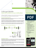 Cellcrypt Mobile Datasheet A4 V3.3