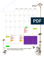 independent book report calendar
