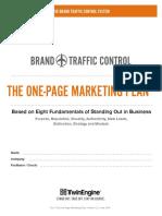 TwinEngine Brand Traffic Control One Page Marketing Plan