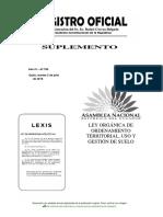 Ley Organica de Ordenamiento Territorial, Uso y Gestion del Suelo..pdf