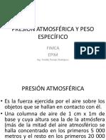3º Presión Atmosférica y Peso Específico