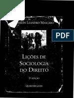 Licoes de Sociologia Do Direito Alysson Mascaro_até Pagina 63
