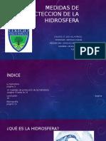 Medidas de Procteccion de La Hidrosfera