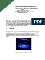 Lampara Led de Fototerapia Para Neonatos.