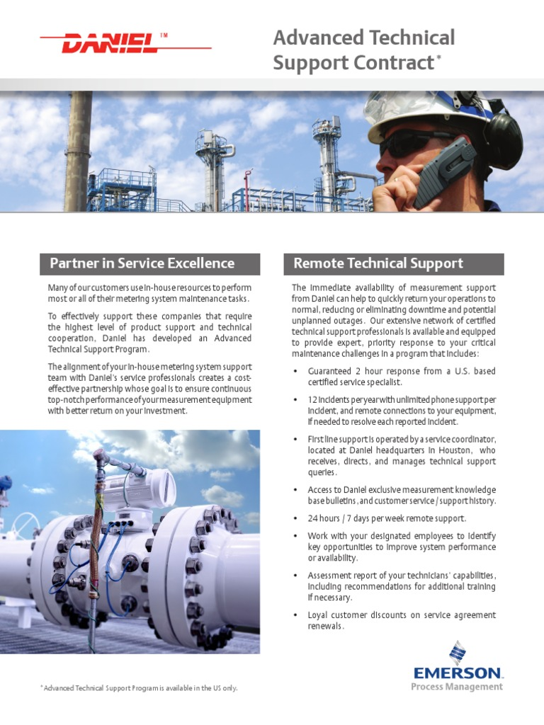 Advanced Technical Support Contract Flyer | Technical