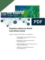 Pesquisa Urbana No Brasil Uma Leitura In