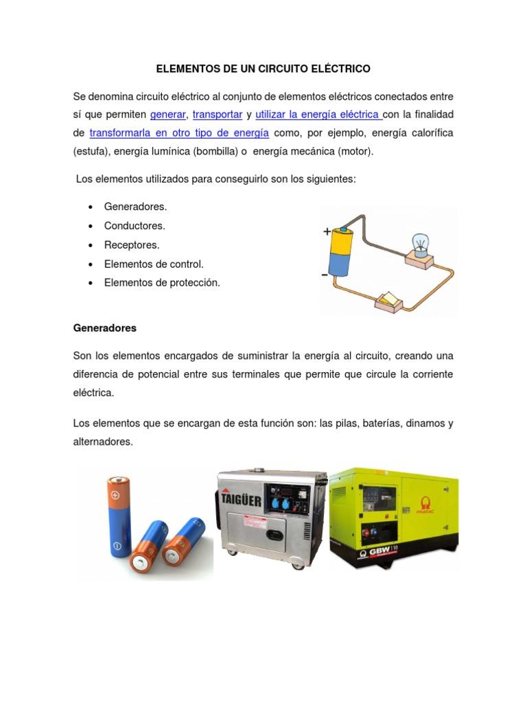 Circuito Y Sus Partes : Elementos de un circuito elÉctrico pdf